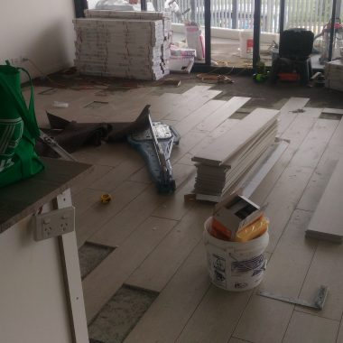 living area tiling